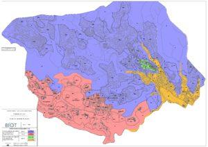 Ville de Biot - Carte du zonage pluvial