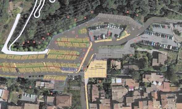 État d'avancement du projet d'aménagement paysager du versant des Bâchettes