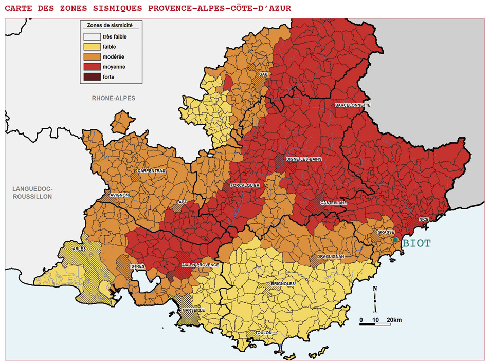 carte zones sismiques