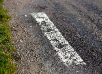 Travaux chemin des Soulières, marquage au sol et bande piétonne