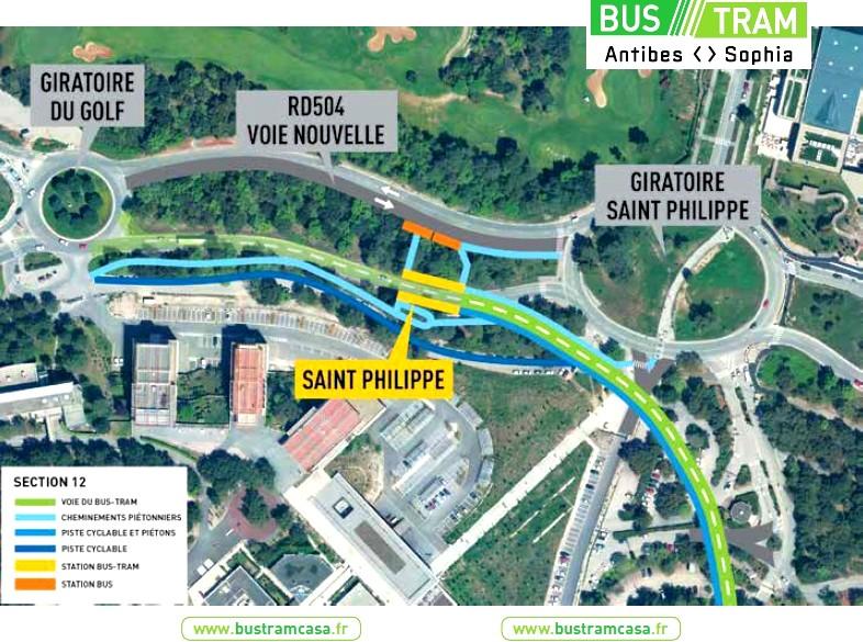 plan bus tram St Philippe