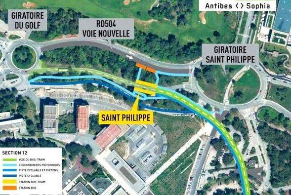 Bus-Tram début des travaux à St Philippe