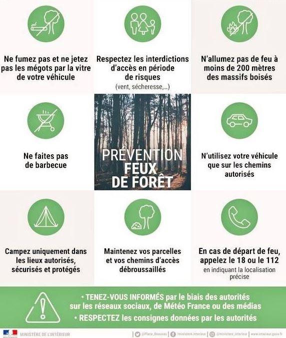 sensibilisation de la population sur les feux de forêt