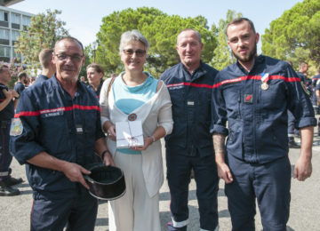 Cérémonie de remise de décorations aux sapeurs-pompiers du SDIS 06 mobilisés la nuit du 14 juillet  2016