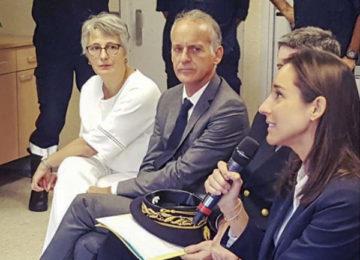 Promotion des gestes préventifs pluie-inondation : rencontre de la secrétaire d'État et de Mme le Maire