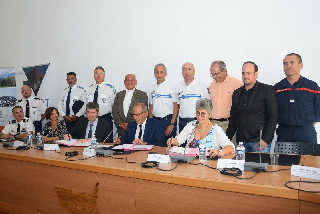 signature convention Biot Valbonne gendarmerie