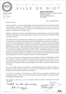 lettre de Mme Debras adressée à Nicolas Hulot