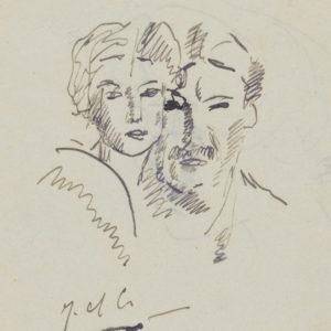 dessin Jeanne et Fernand Léger