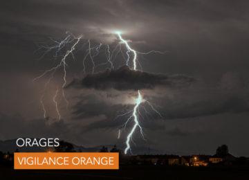 Samedi 19 septembre : Vigilance Orange Orages