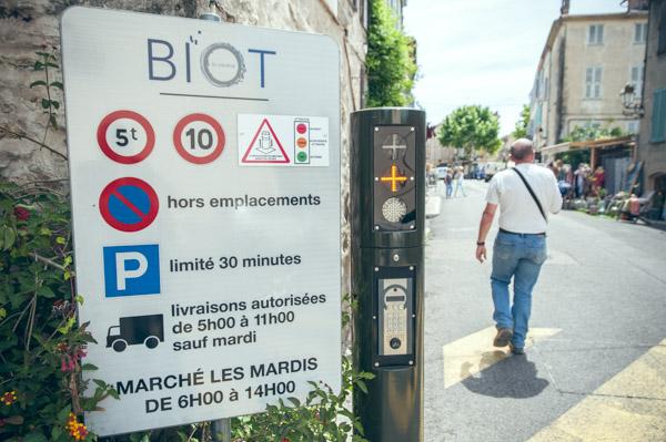 zone piétonne Biot village