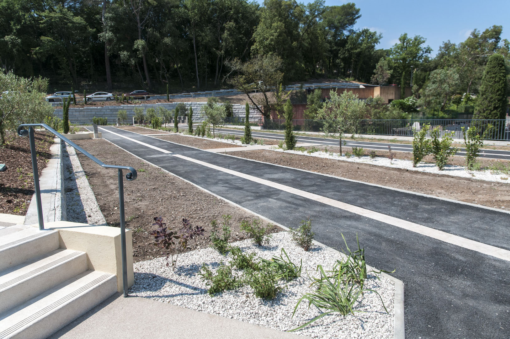 Inauguration de l'extension du cimetière de la Rine