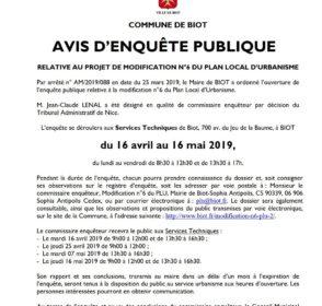 Ouverture d'une enquête publique le 16 avril sur la modification N6 du PLU