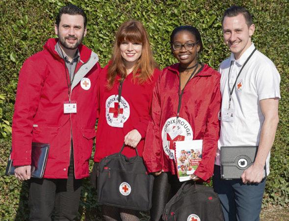 Croix-rouge française : campagne de porte à porte