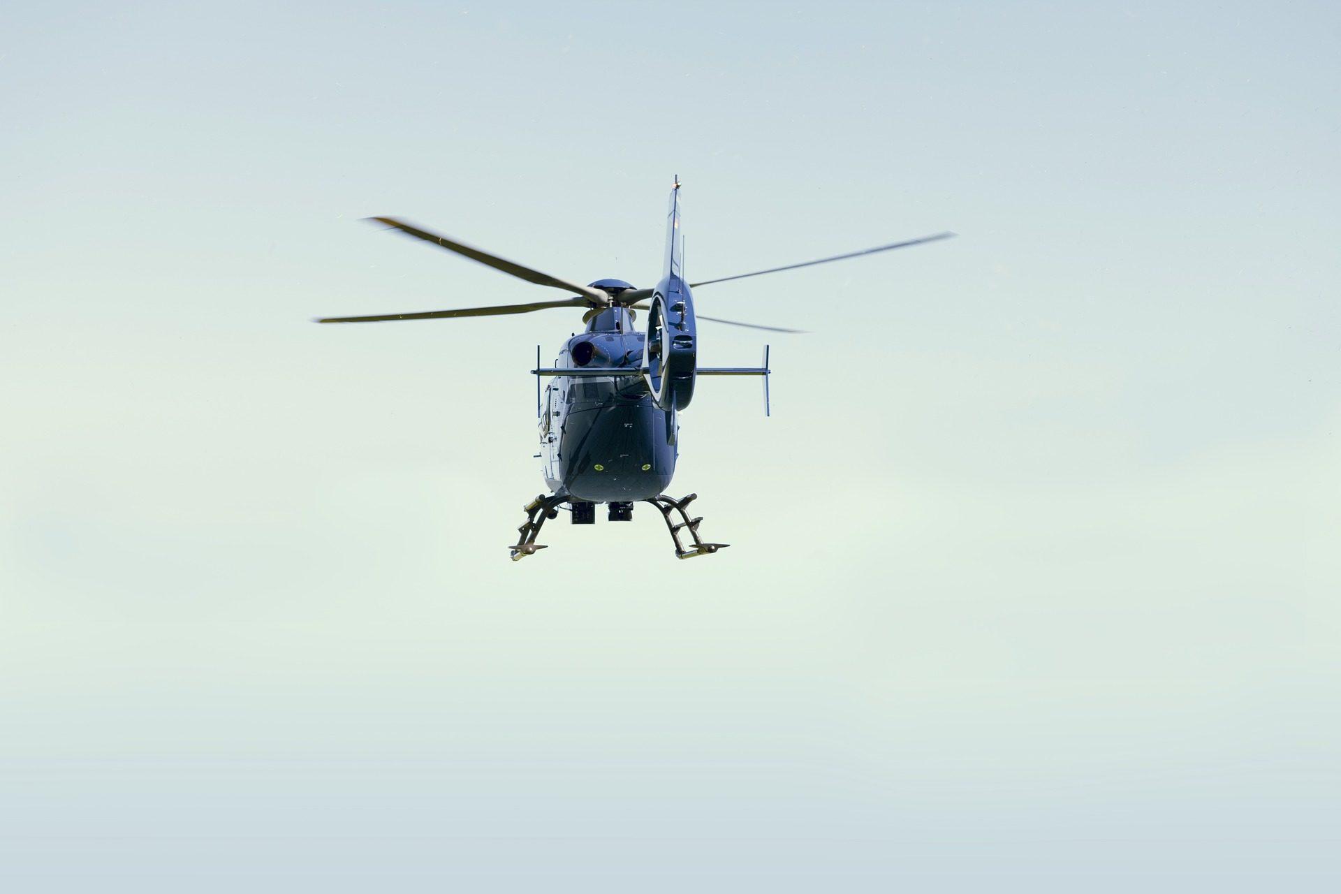 Enedis : survol de la commune en hélicoptère à très basse altitude