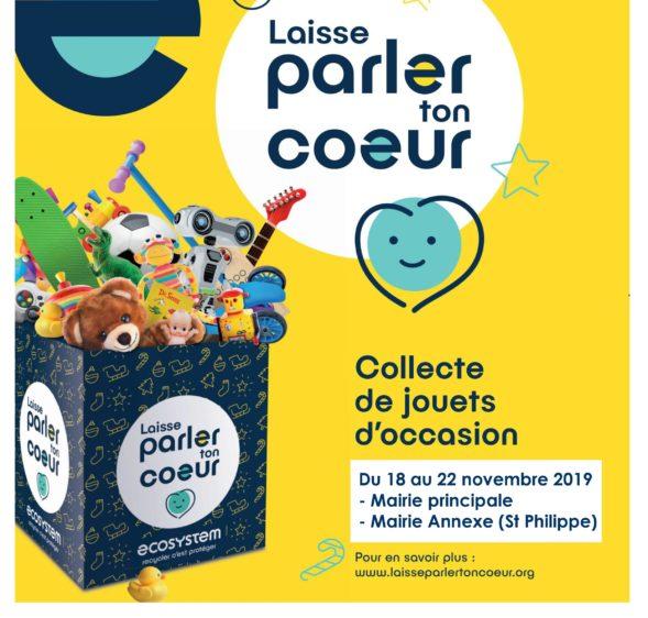 Collecte de jouets du 18 au 22 Novembre