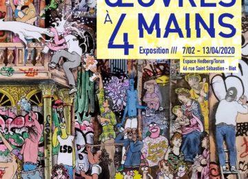Du 7 février au 13 avril : Exposition «Œuvres à 4 mains» à l'espace Hedberg/Torun