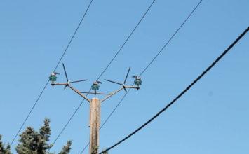 Diagnostic par hélicoptère des réseaux électriques sur la commune