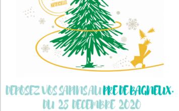 Broyage des sapins de Noël du 28 décembre au 17 janvier au Pré de Bagneux