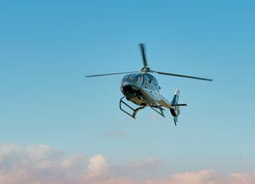 Opération d'héliportage au Mouratoglou resort